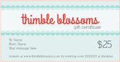 Image of Thimble Blossoms Gift Card