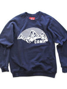 Image of ROCKY MOUNTAIN CREWNECK SWEATSHIRT | TRI-BLUE
