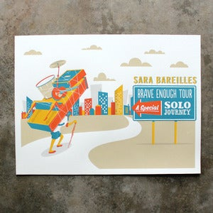 Image of Sara Bareilles US Solo Tour Poster