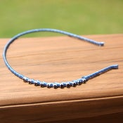 Image of the bling bands- black rhinestone headband