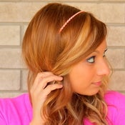 Image of the bling bands- pink rhinestone headband