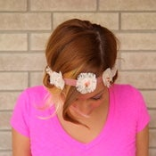Image of the fawn- lace mini floral hair crown