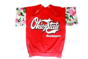 Image of D.Fame Floral &quot;Ohio State Buckeyes&quot; Crewneck&quot;