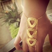 Image of Triple love triangle bracelet