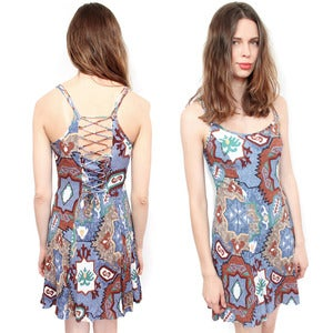 Image of CORSET BACK TRIBAL DRESS 