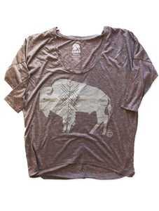 Image of BUFFALO DOLMAN LONGSLEEVE | DIRTY HEATHER
