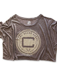 Image of OLDS CREST OVERSIZED BOXY T | DIRTY HEATHER