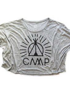 Image of TIPI TIME OVERSIZE BOXY T | OAT HEATHER