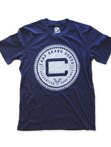 Image of OLDS CREST TSHIRT | TRI-NAVY