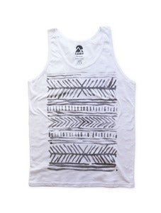 Image of LINES TANK | WHITE