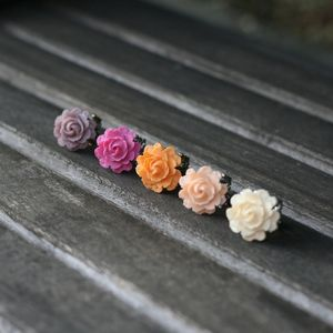 Image of Vintage Petite Rose Adjustable Ring - 7 Colors