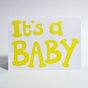 "Image of ""It's a baby"" card"