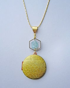 Image of Sulis - Aquamarine Vintage Locket