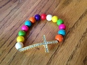 "Image of ""Hope"" Multi-colored Cross Bracelet"
