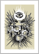 Image of Mo Coppoletta's Sacred Heart limited edition screen print.