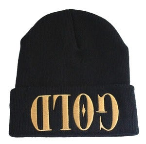 Image of GOLD Black Beanie