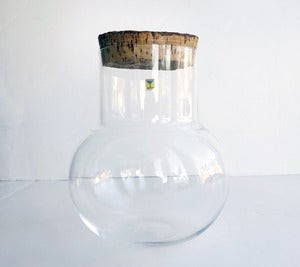 Image of Vintage Maleras Sweden Glass Container/ Terrarium