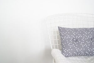 Image of *NOUVEAU* Coussin capiton Etoile Gris