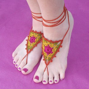 Image of CUSTOM Wildflower Barefoot Sandals