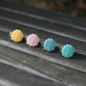 Image of NEW Multi-Flower Adjustable Ring - 4 Colors