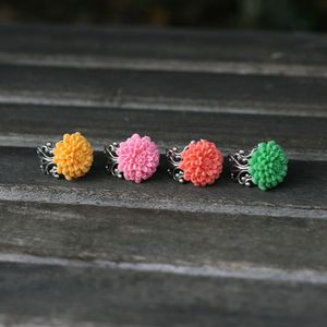 Image of NEW Mini Chrysanthemum Adjustable Ring - 4 Colors
