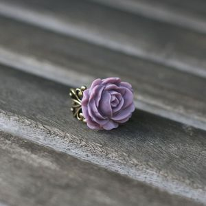 Image of NEW Full Rose Adjustable Ring - 3 Colors