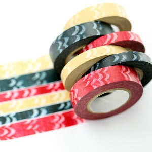 Image of Chalk White Feathers Washi Tape