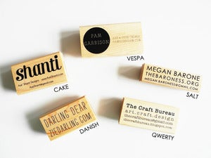 Image of Custom business card stamp