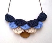 Image of Blue Ombre Scalloped necklace (IDR 89,000)