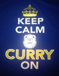 Image of KEEP CALM & CURRY ON - Reflective ROYAL BLUE - RESTOCKED!