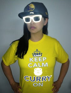 Image of KEEP CALM & CURRY ON - Reflective Edition - GOLDEN YELLOW
