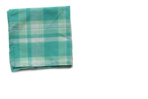 Image of Seafoam Plaid Pocket Square