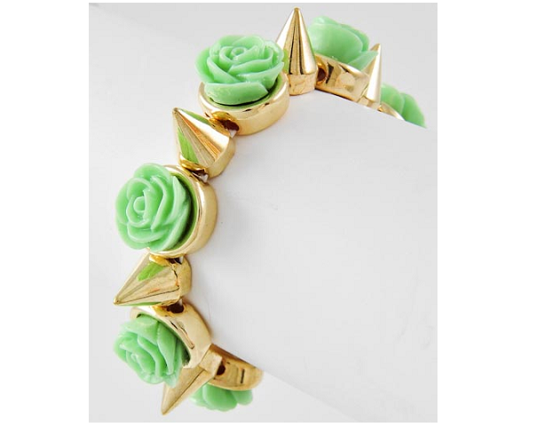 Image of Spiked Flower Bracelet