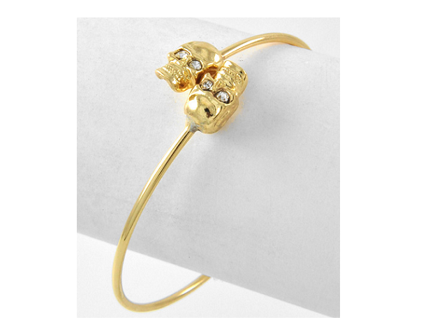 Image of Twin Skull Bangle