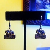 Image of LSU Tiger Eye Earrings