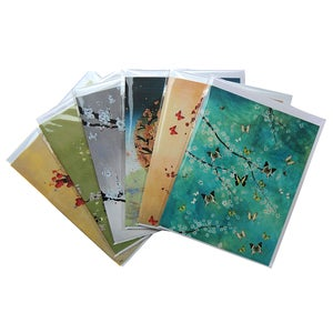 Image of Set of 6 Greetings Cards - Blossoms (Blank Inside)