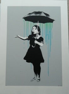 Image of Nola (Green and Blue Rain) signed AP by Banksy