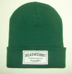 Image of Forest Green Patch Beanie