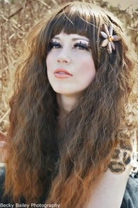 Image of Woodland, Dark Brown Crimped Wavy Boho Dip Dye Gradient Lolita Cosplay Wig