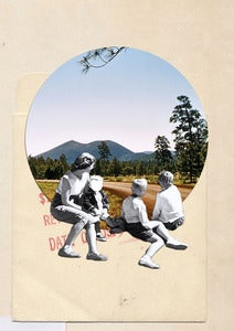 "Image of Original collage: ""looking forward"""