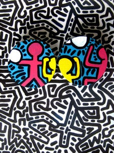 Image of Keith Haring Large Studs
