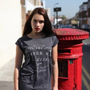 Image of PROPER KISS charcoal raw t-shirt