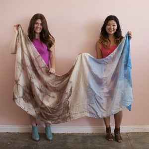 Image of Willow Knows silk habotai wrap scarf