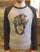 Image of WORN PATH WOLFDOG TWO TONED CREWNECK SWEATSHIRT