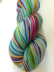 Image of Sweet Moves - MLP inspired GothSock self striping yarn - STRYCHNINE 80/20 wool nylon 440 yds