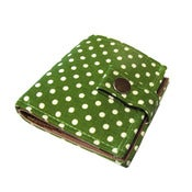 Image of Avocado Polka ) Bifold Wallet With Snap (Plus Zipper)