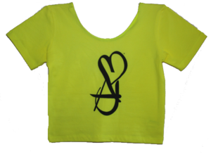 Image of Neon Yellow B.A.D. Girl Crop Tee