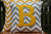 Image of Custom Monogrammed Cushion Covers Throw Pillow Cover - Nursery