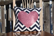 Image of Glitter Custom Monogrammed Pillows