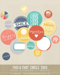 Image of *NEW* This & That Circle Tags (Digital)